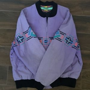 Vintage Wrangler Brushpopper Purple Bomber Jacket
